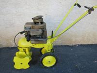 Antique Mark Powertill rototiller manufactured by