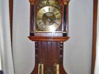 antique saanlander bracket wall clock hermle Dutch