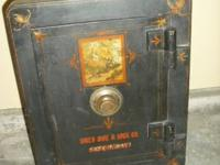 ANTIQUE SAFE BY HALLS LOCK & SAFE.  GOOD CONDITION