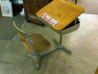We just got in this beautiful antique school Desk. The