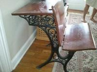 EXCEED CAST IRON AND LUMBER ANTIQUE SCHOOL DESK