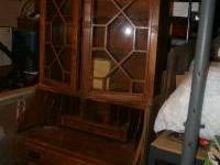 Antique Secretary/Writing Desk, 4 drawers, 3 shelves,