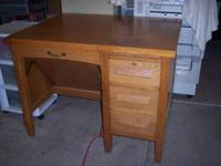ANTIQUE SECRETARY'S DESK & CHAIR --  VERY UNIQUE!!
