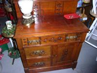 Antique Web server with Carvings and Peg Dovetails in