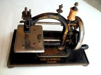 Guhl and Harbeck hand crank sewing machine Circa 1870s