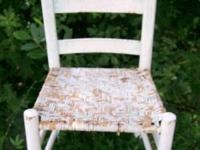 Antique Shaker style chair with naturally distressed
