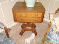 I am selling a great side table with two drawers, &