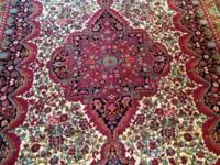 condition: good This is an antique Kashan rug that was