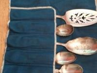Antique set of silver serving pieces. Some from Shreve,