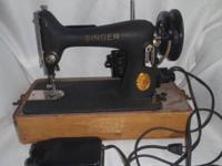Antique Singer Brand Sewing Machine! Appears to work