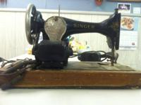 ANTIQUE SINGER SEWING MACHINE AVAILABLE FOR INSPECTION