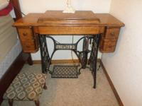 Singer Treadle Sewing Machine head in original cabinet