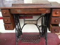 Antique Singer sewing trundle cabinet Has NO sewing