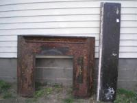 Up For Sale is an Antique Slate / Cast Iron Fireplace