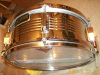 SNARE DRUM BY R.O.C. TAY-E CO FROM 80'S. 14 X 5.5 NEWLY