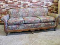 Floral print antique 1930's sofa. Good condition. Email