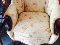 Beautiful sofa and chair fist 125.00 buys it.