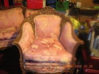 Description Very old antique sofa and chair set needs
