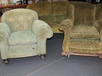 Antique sofa and two chairs, from the early 1900's.Sofa