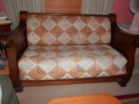 Antique sofa bed Solid wood.Rare discover! 250.00 obo