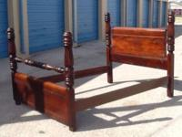 Antique Mahogany 4 Poster Bed, Good Condition, $400