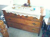 Heavy antique solid oak dresser for sale.  Moving and