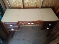 Lovely, SOLID wood Vanity with lift top for storage and