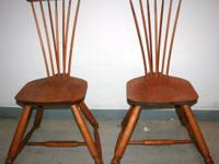 Pair of Spindle Chairs American Period 2 Very old from