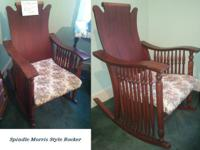 Antique Spindle Morris Style Rocker for SALE for more