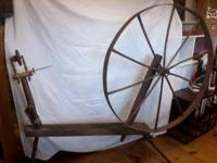 "wheel itself is 45"" in diameter. Great piece for"