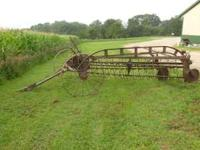 New Idea Antique Steel Rake. Working Condition. OBO
