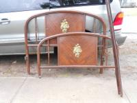 I AM OFFEREDING UP THIS ANTIQUE IRON BED, TWIN SIZE,