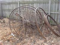 Have numerous antique steel wheels in numerous sizes