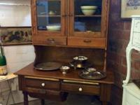 Antique Step Back Cabinet With Possum Belly Drawer and