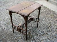 Beautiful base on this antique parlor table - stick &