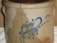 This is an antique pickling crock, wonderful piece of