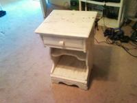 Nice white antique wrinkle finished style night table