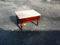 Up for sale is a small antique style step stool with a