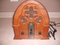 Vintage design Thomas AM/FM casette radio.Nornan
