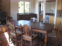 Dining room set- Table with 5 chairs and one captains