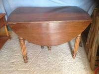 Antique table and chairs for sale. Table is a nice