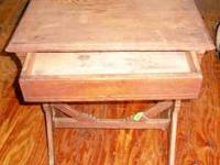 ANTIQUE TABLE / DESK WITH ONE DRAWER STAND/DESK IS: 29