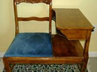 For sale is a Antique Telephone / Gossip / Foyer Bench