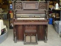 "Antique Thompson Wood Pump Organ Measurements: 48""w x"