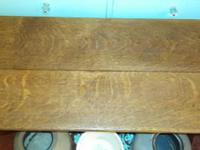 antique tiger oak bench-baywindow seat/at the end of