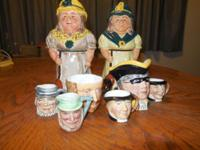 antique Toby Jug Collection with these 8 ENGLISH Toby