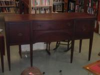 ANTIQUE TOMLINSON OF PEAK MAHOGANY BUFFET.  MADE BY