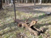 Antique heavy duty hydraulic tractor/jack. Foot pump