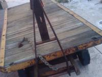 Antique Train Station Railroad Baggage Cart. This cart