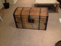 Lovely large antique trunk. Perfect for storage and